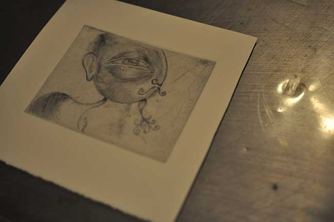 My first drypoint!