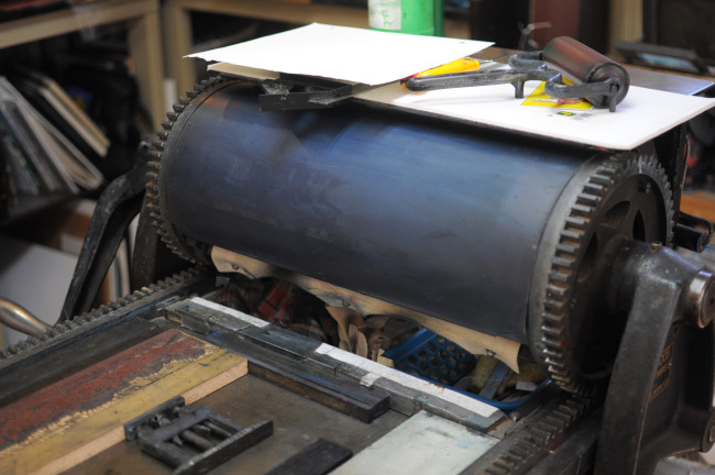 Clive's Vandercook No. 2 Proofing Press